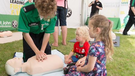 Demonstrators will show attendees how to perform effective CPR in hour long sessions. Pictures: ST J
