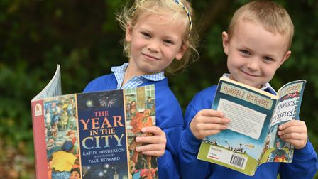 Horrible Histories is among the top children's non fiction books. Photo from launch of Books for Sch