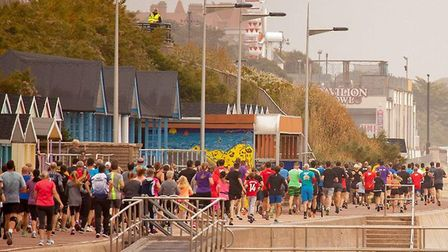 Runners in action at the 100th Clacton Seafront parkrun last Saturday. Picture: PETE INMAN/CLACTON S