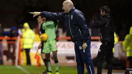 U's boss John McGreal directs affairs from the touch-line during his side's 2-0 win at Crawley last
