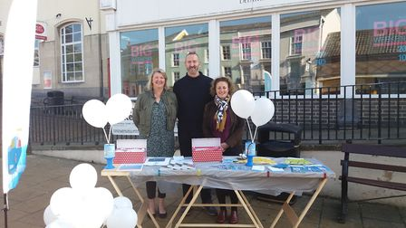 Solo Housing staff and clients had a stall at Diss Market on Wednesday to highlight World Homlessnes