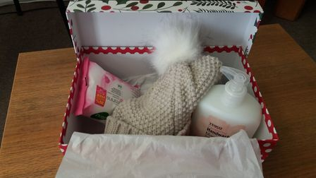 Solo Housing, typical Christmas gift box for a homeless person. Solo Housing has launched it Christm