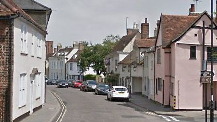 Thieves stole valuables from a property in Friars Street, Sudbury Picture: GOOGLE MA