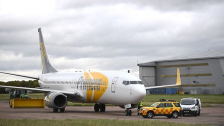 A Primera plane at Stansted Airport Picture: Joe Giddens/PA Wire