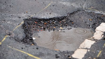 Potholes of 200mm or deeper will be included as part of the new pilot Picture: SARAH LUCY BROWN