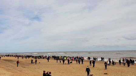 Dachshund owners from across England flocked to Southwold for the charity walk Picture: #SOUTHWOLDSA