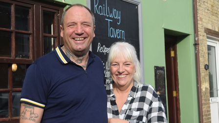 Paul and Julie Summers have taken over the running of the Railway Tavern in Saxmundham. Picture: AND