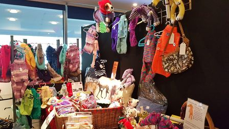 Clothing, bags and other items were among the range of vegan products. Picture: RACHEL EDGE