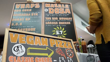 'Vraps' and vegan pizzas were very popular with customers. Picture: RACHEL EDGE