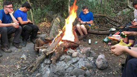 Students camped out on their two week expedition around Swaziland. Picture: WORLD CHALLENGE