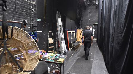 The very backstage of the Theatre Royal in Bury St Edmunds. Picture: GREGG BROWN