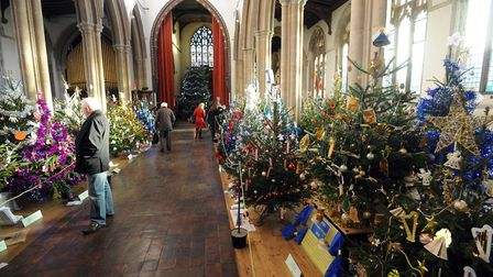 The Sudbury Christmas Tree festival in St Peters Church in 2015 Picture; PHIL MORLEY