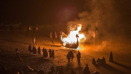 The ceremonial boat burning will take place at dusk Picture: WUFFA