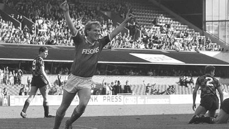 Graham Harbey was also among the scorers in Town's win over Man City in 1987