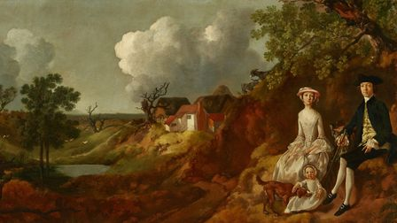 Mr and Mrs John Browne and their daughter, Anne Maria c. 1754-55, which is in the exhibition Picture