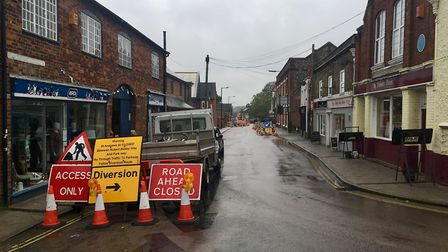 The final phase of gas works in Bury St Edmunds town centre are set to be completed before the Chris