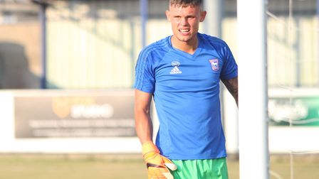 Ipswich Town youngster Harry Wright is the son of former Blues stopper Richard. Picture: ROSS HALLS