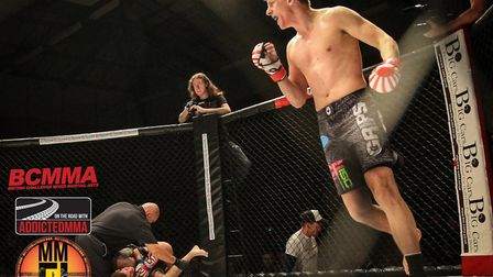 Ipswich's Adam Spalding faces Phuong Tran at Cage Warriors Academy South East. Picture: MARC MOGGRID