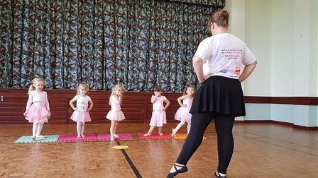 Baby danceathon with peppa pig in aid of Tommy's charity. October 2018. Byline: Rachel Edge