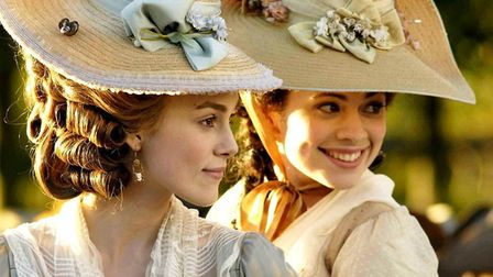 Keira Knightley as Georgiana, with best-friend Bess (Hayley Atwell), in the bio-pic The Duchess. Pho