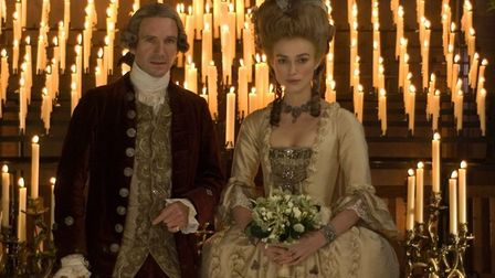 Keira Knightley as Georgiana, the independent-minded Duchess of Devonshire, with her cold husband Wi