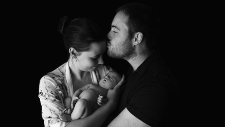 Nakita and Matthew Duffy with their baby Willow Picture: LIANNE MARIE PHOTOGRAPHY