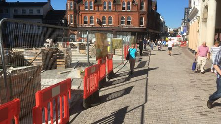 Work on Ipswich Cornhill is nearing completion - but will visitors like the new area? Picture: PAUL