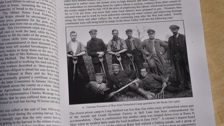 Author and historian David Gevaux with his new book about the men and women of Long Melford during t