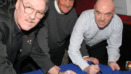 SPORTING LEGENDS LAUNCH NEW SPORTS BAR: A trio of sporting legends were among the VIPs who attende