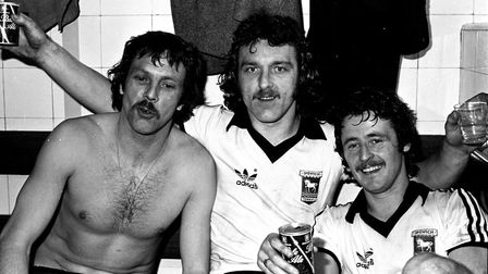 Allan Hunter, Kevin Beattie and Robin Turner as Town reach the FA Cup final.