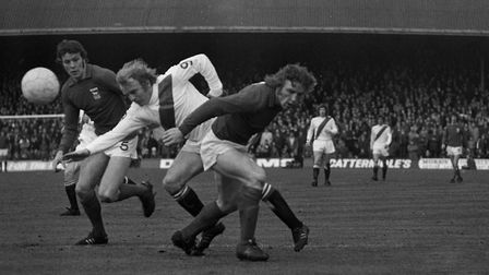 Alan Hunter and Kevin Beattie: the best defensive partnership Town have ever had? Here they are, pit