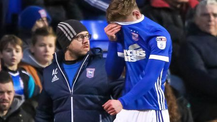 Teddy Bishop ruptured his hamstring in the Boxing Day game against QPR. Photo: Steve Waller