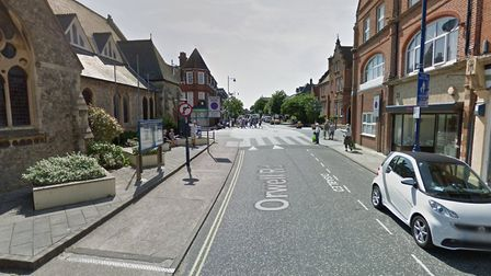 Orwell Road in Felixstowe where the collision took place Picture: GOOGLE MAPS