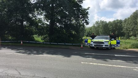 Police at the scene of an alleged attempted rape in Cullum Road, Bury St Edmunds Picture: RUSSELL C