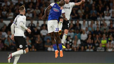 Toto Nsiala is available again for Ipswich Town after serving a three-game suspension. Photo: Pagepi