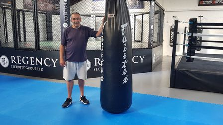 Steve Newman in his new fight sports gym in Norwich - Elite Gym. Picture: STEVE NEWMAN