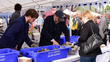 Crowds of people enjoyed the Woodbridge Shuck Festival over the weekend. Picture: SARAH LUCY BROWN