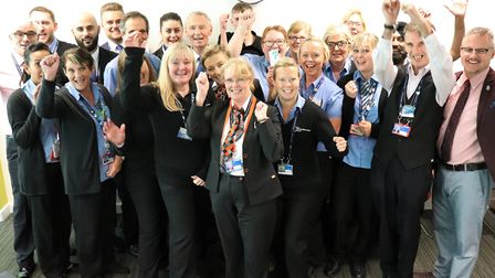 Dementia Friends at Stansted Airport, trained to help passengers with hidden disabilities Picture: S