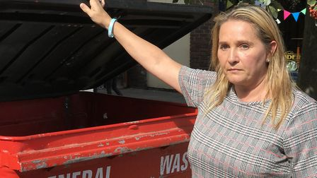 Nicola Urquhart, the mother of missing Corrie McKeague, returns to Bury St Edmunds where her son was