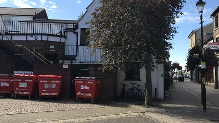 The Horseshoe in Bury St Edmunds - The last known place where missing Corrie McKeague was seen. Pict