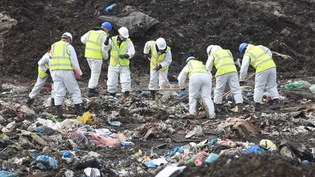 Specialist officers searched the Milton Landfill site in Cambridgeshire for a total of 27 weeks Pict