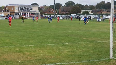 The scene at Brantham Athletic as the hosts take on Eastbourne Borough in this afternon's big FA Cup