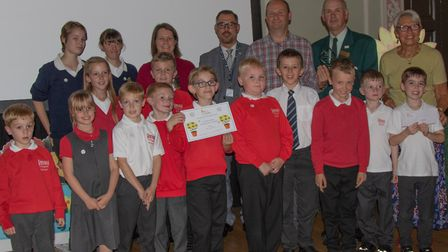 Overall winners Tollgate Primary School Picture: JO SWEETMAN