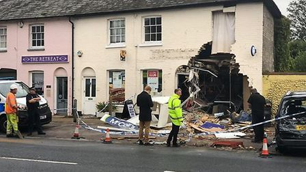 The sie of the ram raid which occurred on Sunday, October 14 Picture: CLLR PAUL MORETON