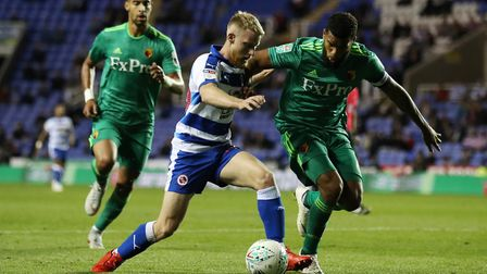 Reading's Josh Sims in action. The Royals have lost five of their six home games so far. Photo: PA