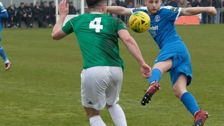 Byron Lawrence, who scored in Leiston's 4-0 win over Halesowen on Saturday. Leiston are at home to K