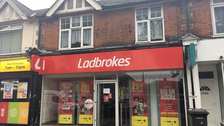 The Ladbrokes betting shop on Nacton Road Pictue: ARCHANT