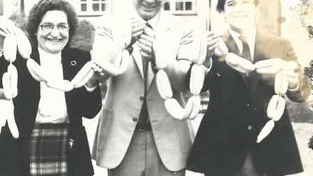 (From left to right) Dot Rideway, her late husband John and son David, shortly after the opening of