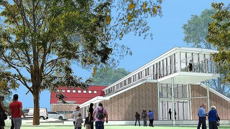 An architect's CGI image of how the new Jetty Lane centre could look Picture: CONFABRICOR