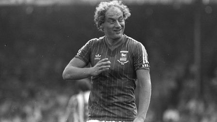 Alan Brazil scored in Town's 1-1 draw with Luton